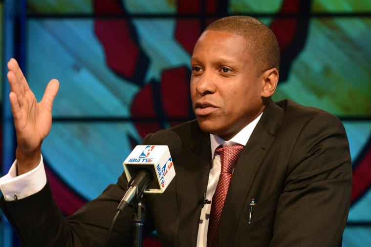 Toronto Raptors GM Masai Ujiri Yells 'F--K Brooklyn!' During Rally Before Series