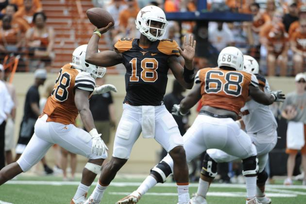 Don't Let Tyrone Swoopes' Spring Game Stats Fool You, Texas Needs David Ash