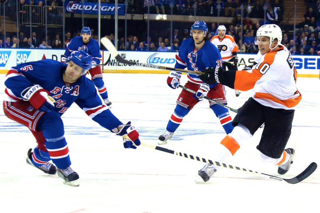 Philadelphia Flyers vs. New York Rangers Game 2: Live Score and Highlights