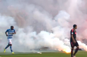 Flares Thrown on Pitch Delay Dutch Cup Final Between Ajax and PEC Zwolle
