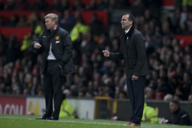 Everton vs. Manchester United: Reaction from Roberto Martinez and David Moyes