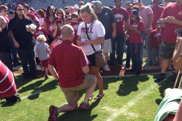Alabama Spring Game Features 3 Different Marriage Proposals