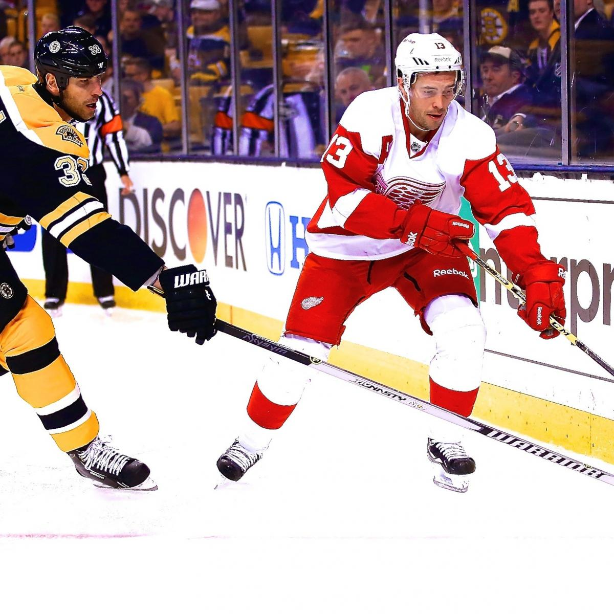 Detroit Red Wings Vs. Boston Bruins Game 2: Live Score And