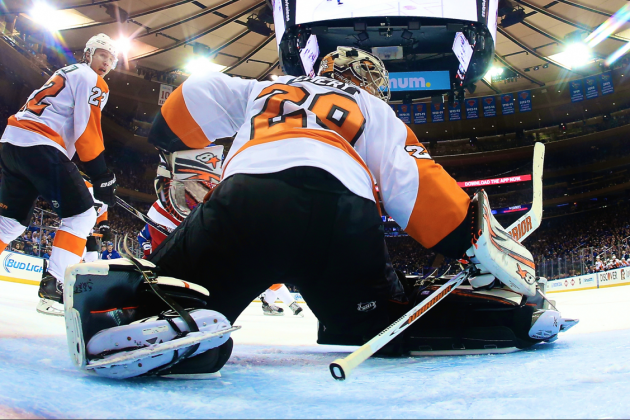 Ray Emery Steals Win vs. Rangers: Who Should Flyers Put in the Net in Game 3?