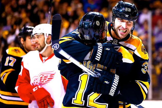 Dominant Bruins Show Up to Impose Will Early vs. Red Wings in Game 2 Win