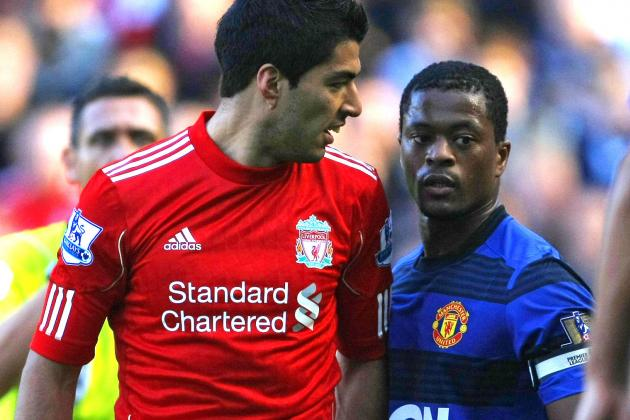 Luis Suarez Voted PFA Player of the Year by Manchester United's Patrice Evra