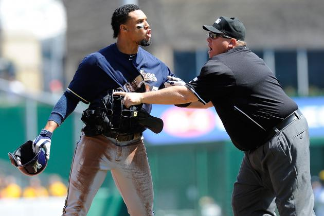 Carlos Gomez, 3 Others Suspended for Roles in Brewers-Pirates Brawl