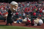 Watch: Easter Bunny Crashes Nats' Presidents Race