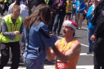 BOS Marathon Runner Proposes to Girlfriend at Finish Line