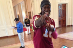 RGIII Rocks Cleats in the White House