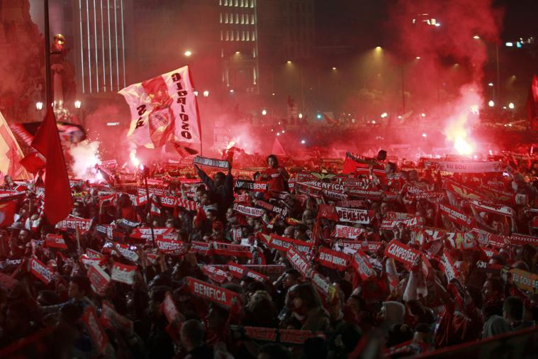 Benfica Supporters Have Wild Celebration After Winning Portuguese Liga