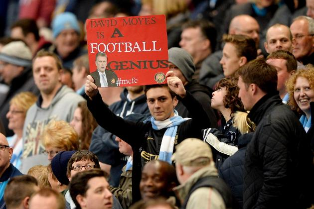 Manchester City Supporters Cheekily Defend David Moyes