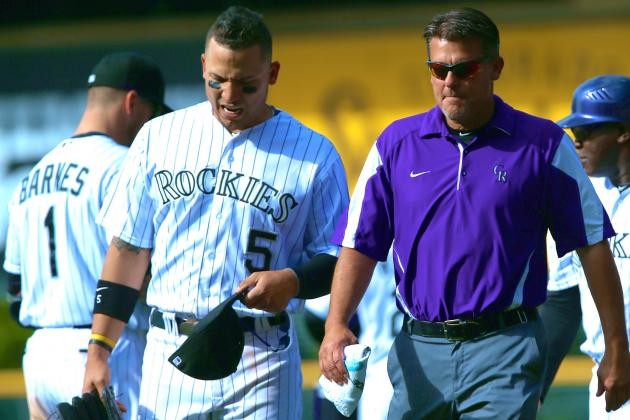 Carlos Gonzalez Will Be Challenged to Play Through Knee Pain for Rockies