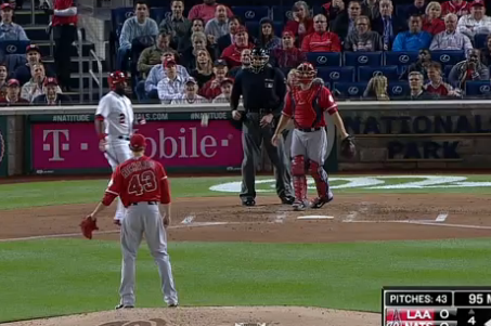 Angels' Garrett Richards Throws Wild Pitch to Himself
