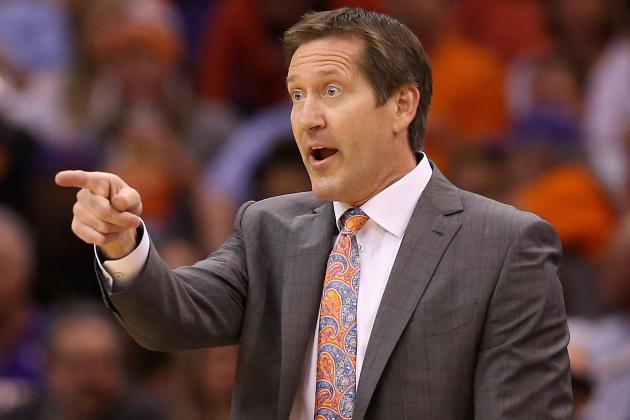 Suns' Jeff Hornacek Finishes Behind Spurs' Gregg Popovich...