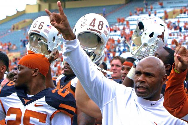Charlie Strong Is Just Being Realistic Saying Texas Won't Play for Title in 2014