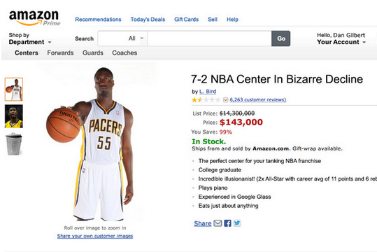 Fake Amazon Listing Made for Roy Hibbert