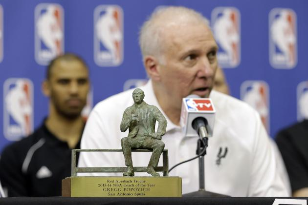 Spurs Head Coach Gregg Popovich 3rd Ever to Win Coach of the Year 3 Times