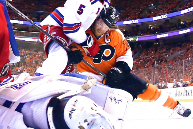 Paging Claude Giroux: MIA Star Costing Flyers as Rangers Take 2-1 Series Lead