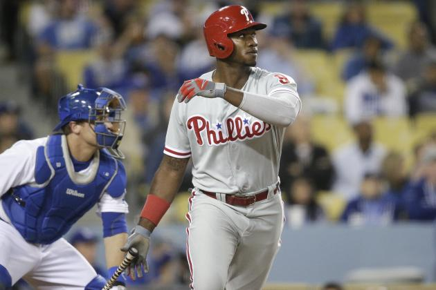 Phils Beat Dodgers 3-2 in 10 on Brown's RBI Double