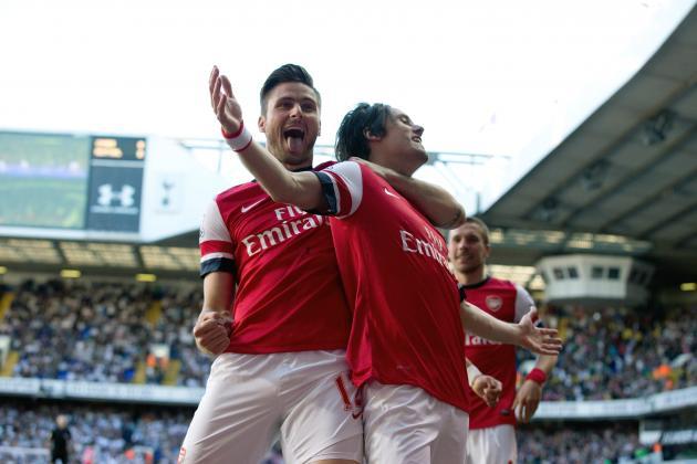 St Totteringham's Day 2014: Arsenal Top Tottenham Again in Premier League Table