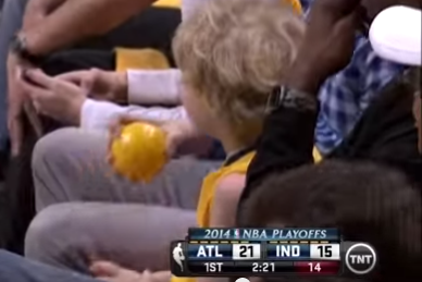 This Little Pacers Fan Thought the Game Needed a Second Ball