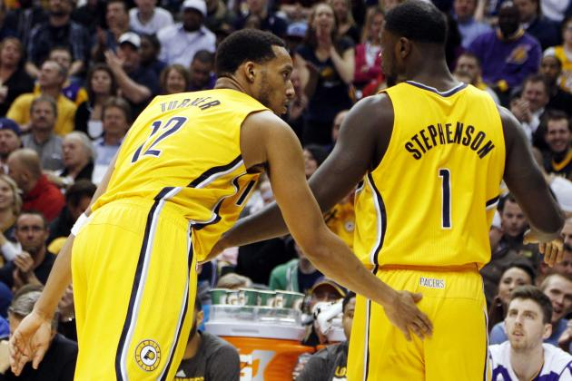 Report: Lance Stephenson, Evan Turner Got into Fight Before Round 1 vs. Hawks