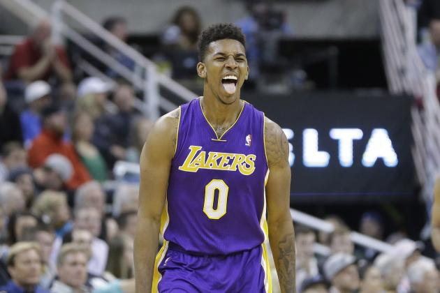 Nick Young Had a Ball at Tuesday Night's Los Angeles Kings Game
