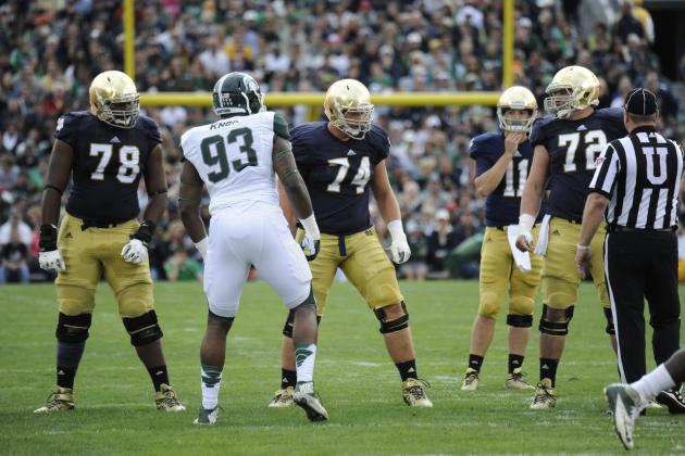 Notre Dame Will Wait to Settle on Starting Offensive Line