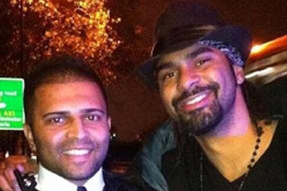 David Haye Seems to Get off Speeding by Taking Selfie with Policeman