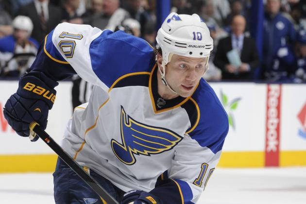Blues Lose Morrow for Remainder of Chicago Series