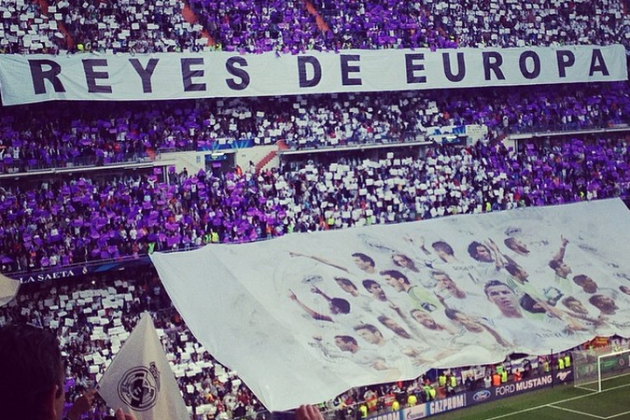 Images: Real Madrid Fans Unveil Huge 'Kings of Europe' Banner