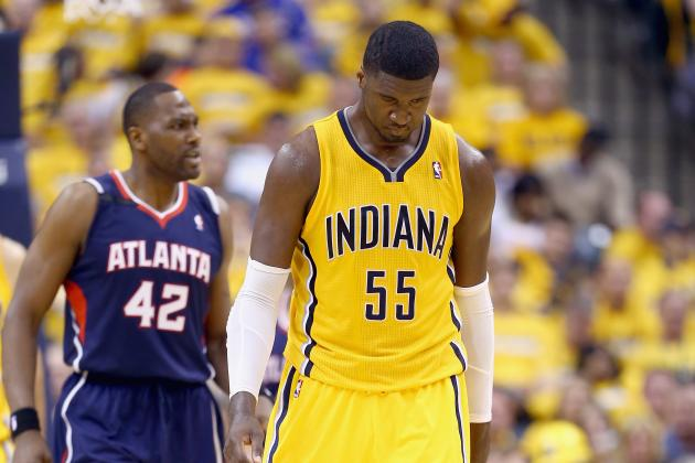 Roy Hibbert's Downfall Coming at Worst Possible Time for Indiana Pacers