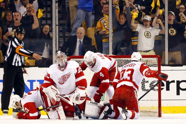 Detroit Red Wings Are Beating Themselves in Boston Bruins Playoff Series