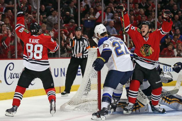 Kane Leads Blackhawks Past Blues, 4-3 in OT