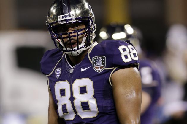 Washington, Oregon Tight Ends Who've Slipped in Projections