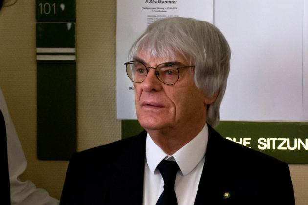 Bernie Ecclestone Forgets He's Married on 1st Day of Bribery Trial