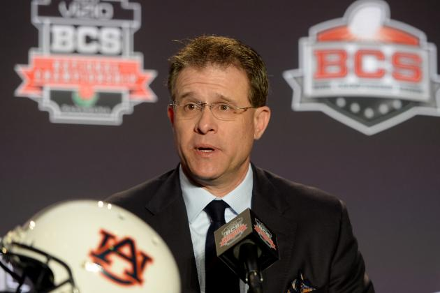 Auburn's Gus Malzahn Jabs at His No-Huddle Critics During Local Bingo Game