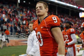 Illinois WR Steve Hull Worked out for Bengals Today