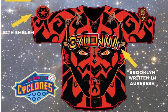 Brooklyn Cyclones Embrace the Dark Side, Unveil Darth Maul Sith Jerseys