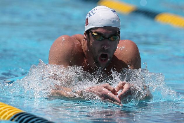 2014 Mesa Swimming Grand Prix: Michael Phelps Back
