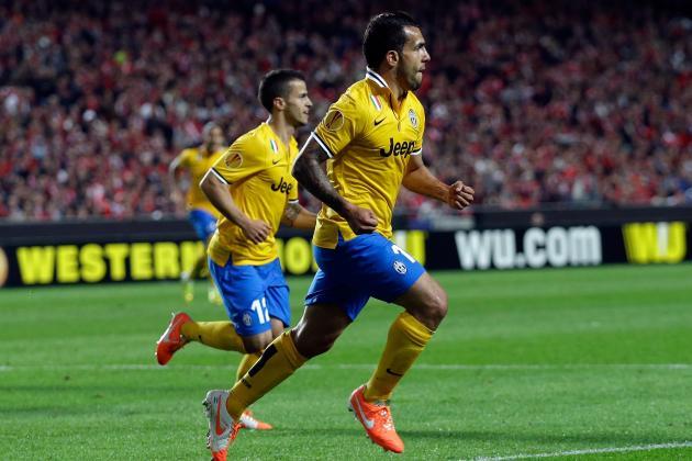 GIF: Carlos Tevez Scores First European Goal Since April 2009