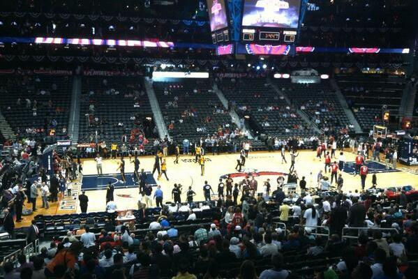 Hawks Fans Sparse at Tip-off of Game 3