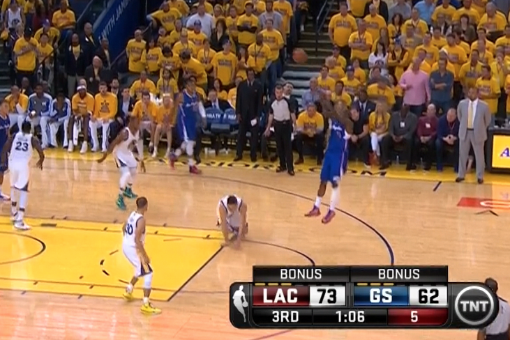 Jamal Crawford Sends Klay Thompson to Floor with Crossover, Drains Jumper