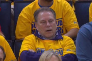 Tom Izzo Didn't Appear Too Enthralled by the Clippers-Warriors Game