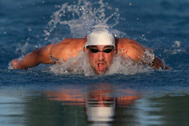 Michael Phelps Swims Butterfly in Freestyle Race, Finishes 7th