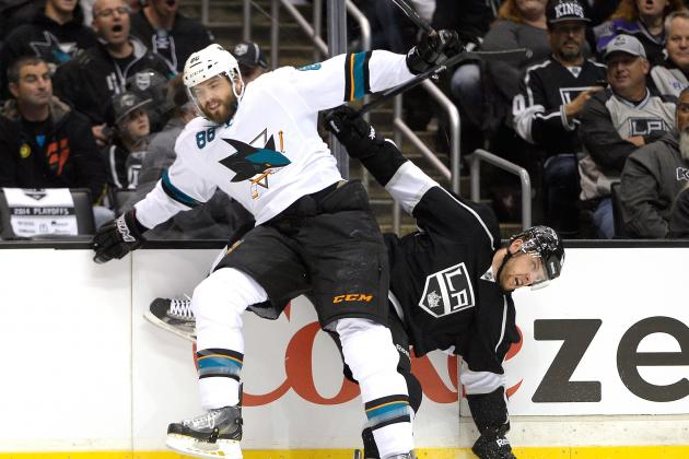 Sharks Notebook: Brent Burns Leads Team in Shots, Hits