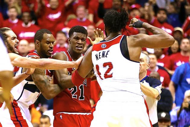 Nene Suspended After Head-Butting Skirmish with Jimmy Butler