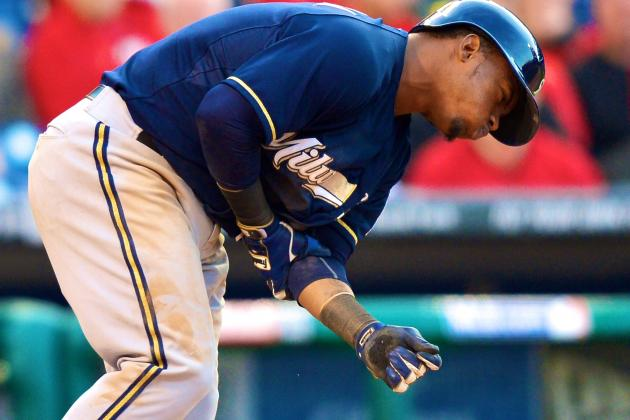 Jean Segura Injury: Updates on Brewers SS's Head After Being Hit With Bat