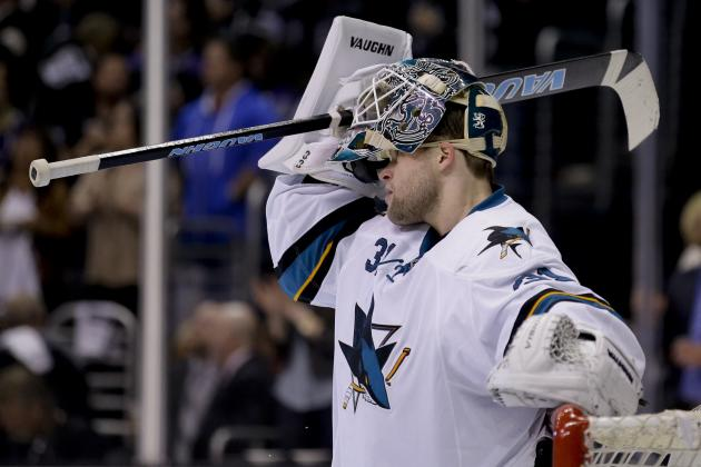 Sharks' Niemi Pulled in Second Straight Game